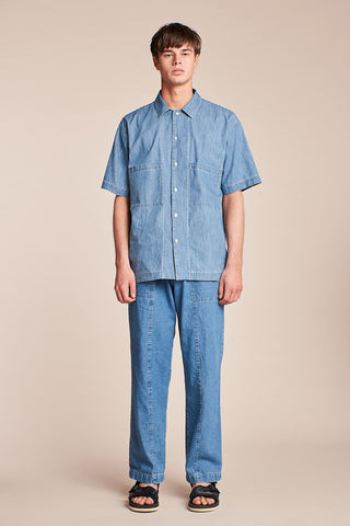 Juncture S/S Shirt Mid-wash Denim