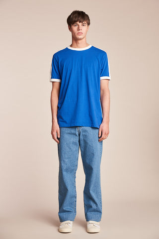Nowhere Tee Ultramarine/White