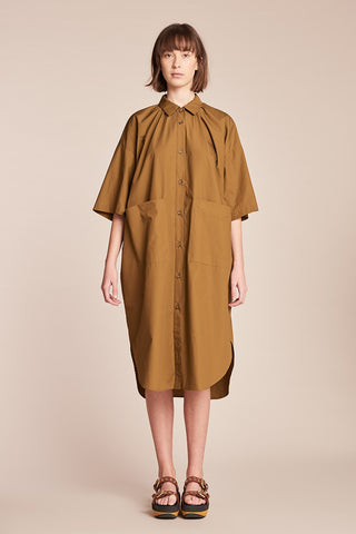 Abyss Shirt Dress Tobacco