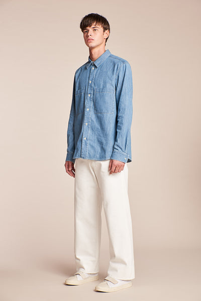 Sire Denim Shirt Mid-Wash Denim