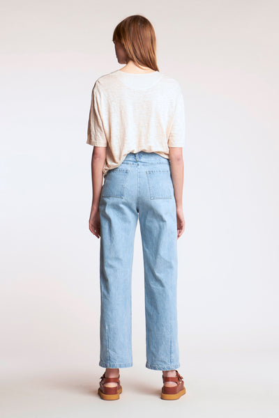 Interval Front Pocket Jeans Pale Bleached Denim