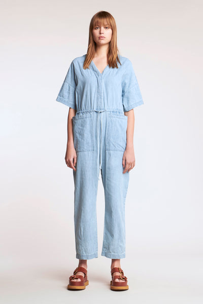 Interval Jumpsuit Pale Bleached Denim