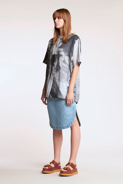 Dimension Top Charcoal Print