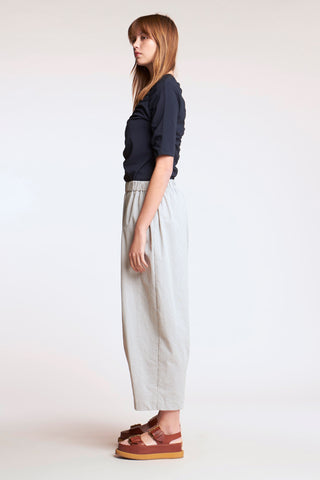 Marias Seersucker Pant Grey Stripe