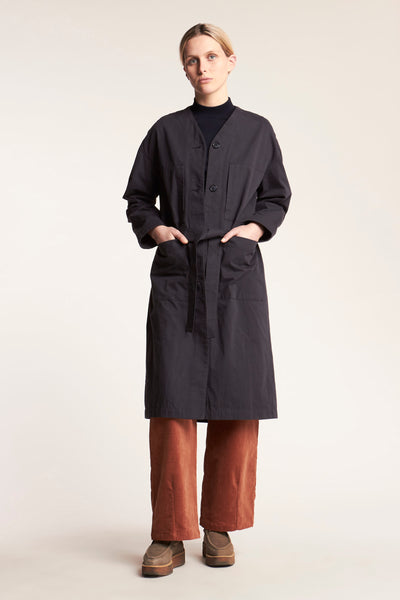 Free Fall Long Jacket Charcoal