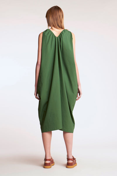 Crescent V-neck Dress Jungle