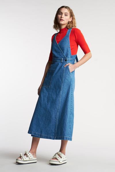 Fervour Denim Pinafore Mid-Wash Indigo Denim