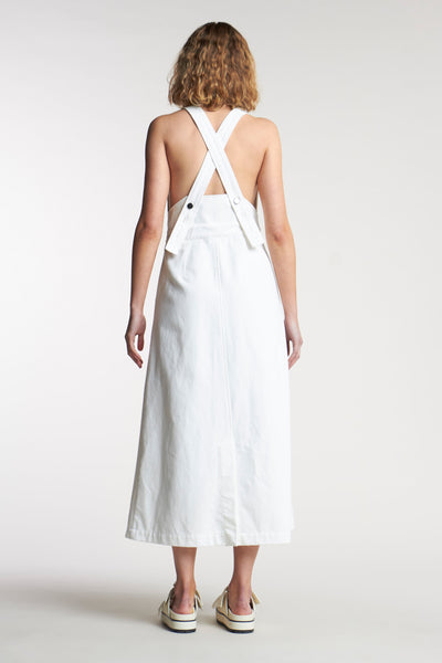 Fervour Denim Pinafore White Denim