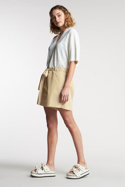 Article Stripe Short Mid Stripe Ochre