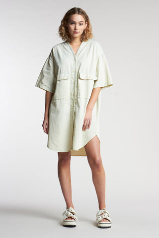 Fog Pocket Dress Acid Bleach