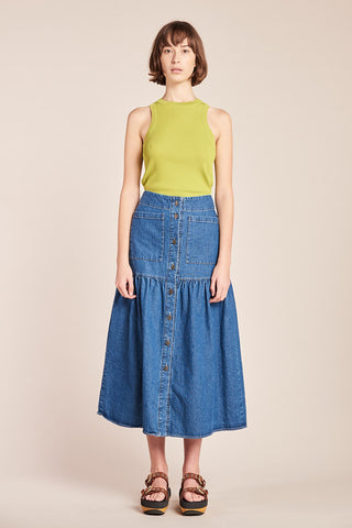 Specture Denim Skirt Mid Wash