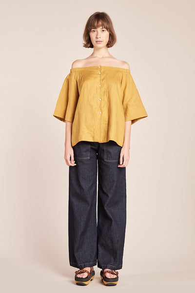 Mystic Off The Shoulder Top Ochre