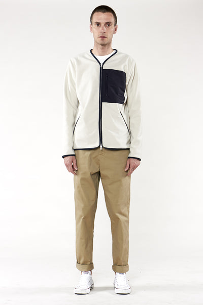 Roland Zip Up Cream