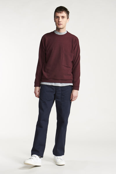 Quantum Patch Pullover Wine