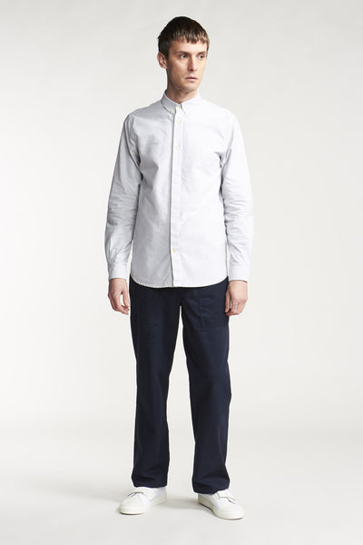 Real World Shirt Oxford Pale Grey