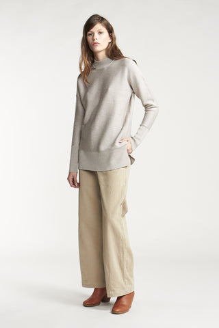 Venus Funnel Neck Sweater Chalk
