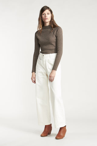 Formation Mock Neck Sweater Nutmeg