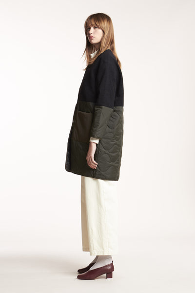 Suspended Coat Dark Olive