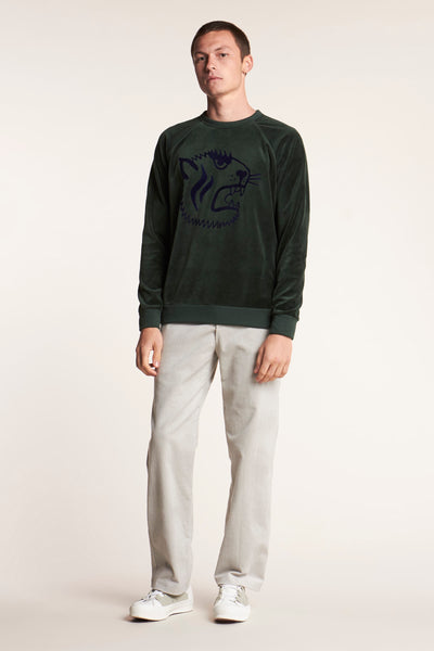 Pursuit Velour Sweater Jungle