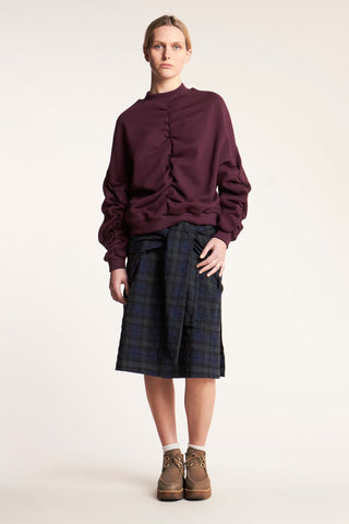 Morale Tie Skirt Plaid