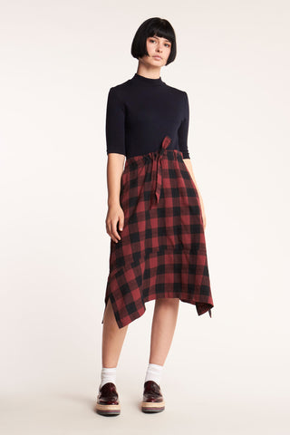 Lure Check Skirt Red with Black Check