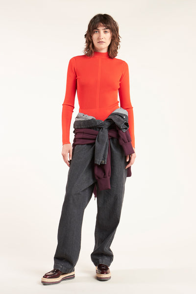 Blend Mock Neck Knit Grenadine