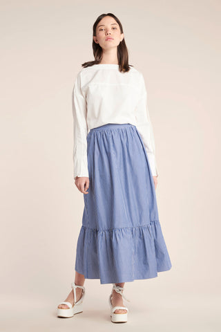 Effect Skirt Marine Stripe