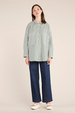 Sway Painters Shirt Mid Stripe Sycamore