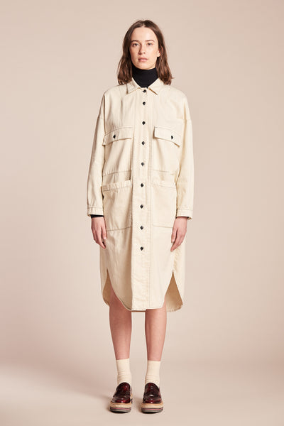 Sway Painters Shirt Dress Ecru
