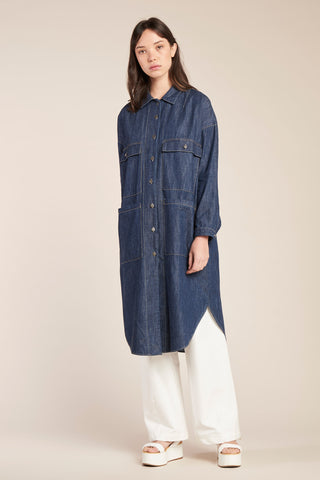 Sway Painters Shirt Dress Indigo