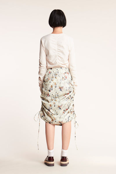Swing Ruched Skirt Understudy Print