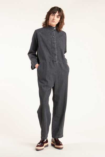 Lapse Denim Boilersuit Grey Denim
