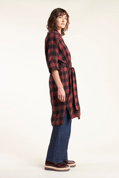 Cover Check Dress Red with Black Check