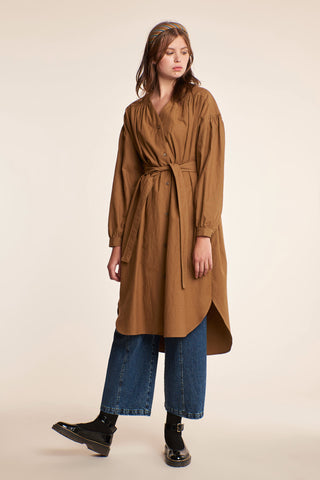 Desert Smock Dress Tobacco