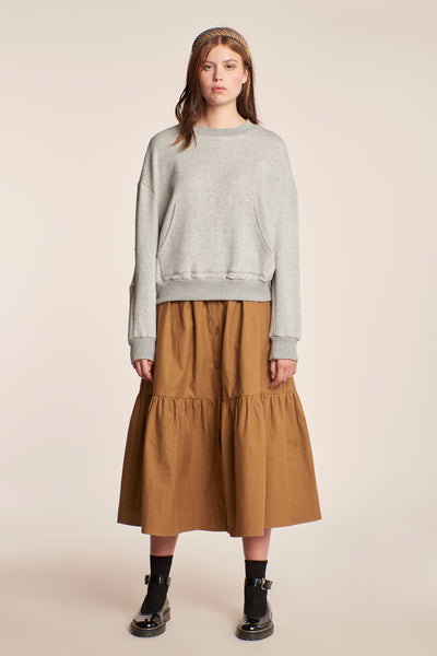 Sierra Tier Skirt Tobacco