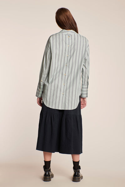 Wayfarer Shirt Ticking Stripe Sycamore/Ecru