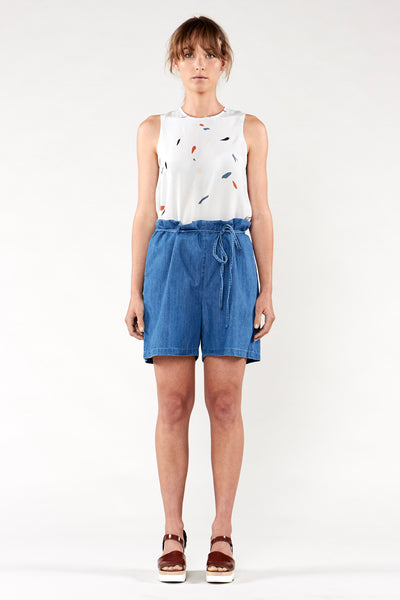Sailing Short Washed Denim