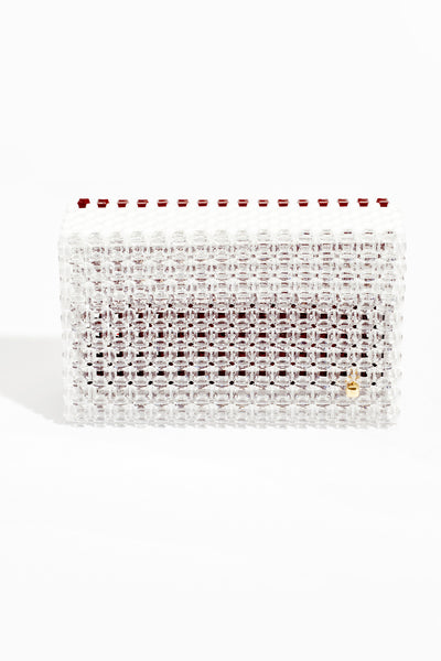 Cocktail Clutch Clear Sights (Crystal, Burgundy,White)