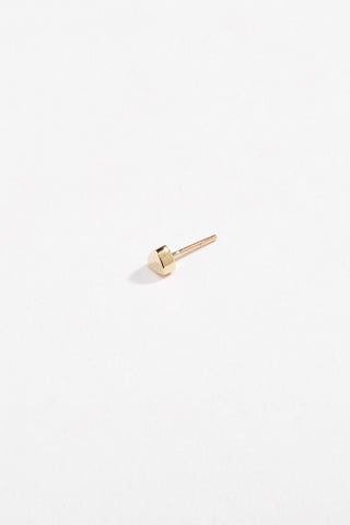 Water Stud Earring Yellow Gold