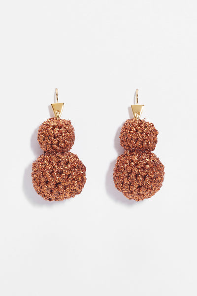 Rock Formation Earrings Copper