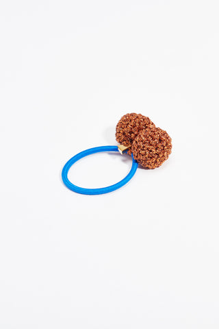 Rock Formation Hair Tie Small Copper Blue Band