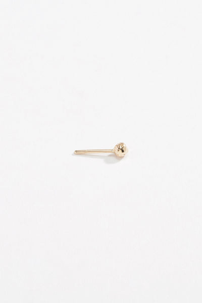 Peppercord Stud Earring Yellow Gold