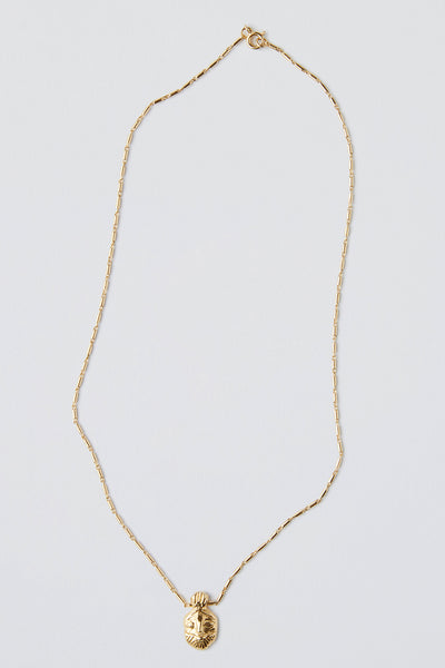 Bes Necklace Yellow Gold Plate
