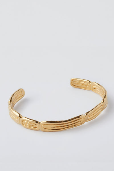 Draa Cuff Yellow Gold Plate