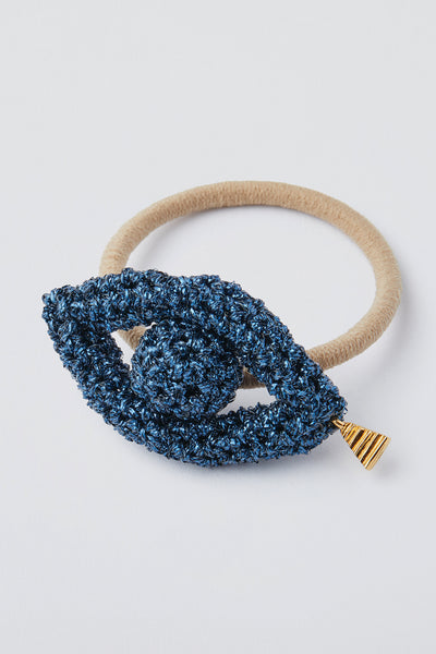 Phoenician Eyes Hair Tie - Midnight