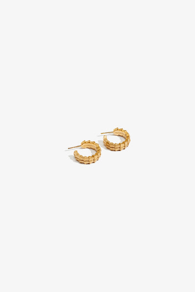 Neptune's Spear Hoop Earrings - Yellow Gold Plate