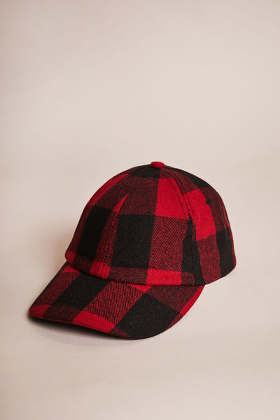 Mutual Cap Red Check