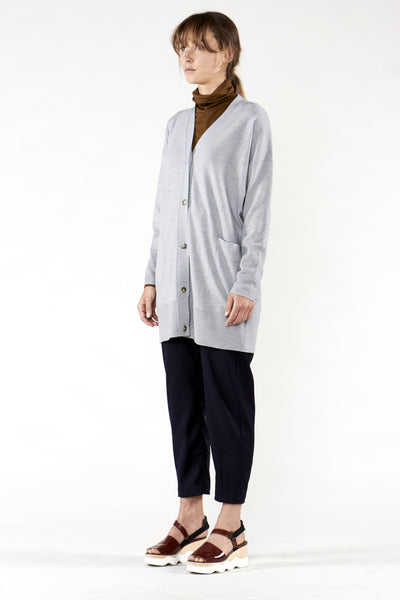 Long Lead Cardigan Grey Marle