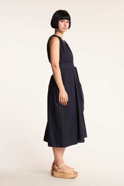 Crescent V-neck Dress Ink