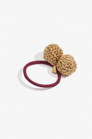 Rock Formation Hair Tie Small Gold & Burgandy